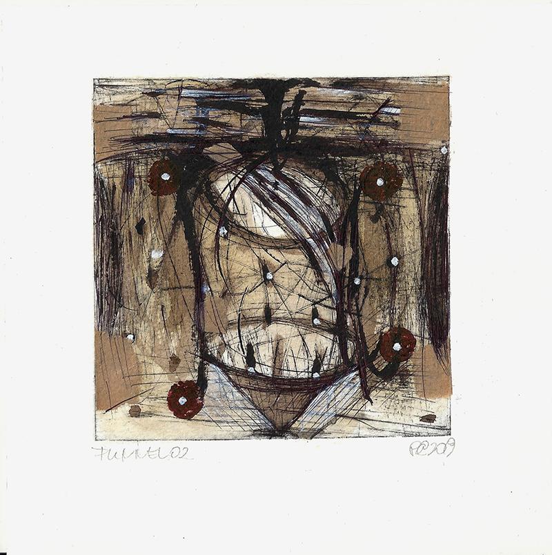 Csaba Pál, Funmel 02, 10x10 cm, mixed, 2019